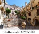 Street Of Taormina  Sicily