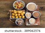 healthy food  best sources of... | Shutterstock . vector #389062576
