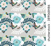 romantic seamless pattern for... | Shutterstock .eps vector #389068486