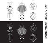 sacred geometry magic totem ...   Shutterstock .eps vector #389077729