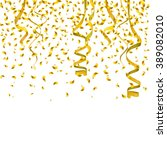 illustration of golden confetti ... | Shutterstock . vector #389082010