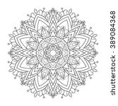 coloring for adult anti stress  ... | Shutterstock . vector #389084368