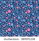 cute pattern in small flower.... | Shutterstock .eps vector #389091238