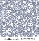 Stock vector cute pattern in small flower small white flowers gray background floral seamless pattern small 389091253