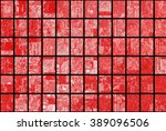 bright abstract mosaic red... | Shutterstock . vector #389096506