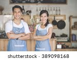 successful small business owner ... | Shutterstock . vector #389098168