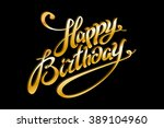 vector golden text on black... | Shutterstock .eps vector #389104960