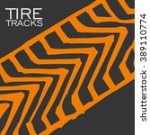 tire tracks background.vector... | Shutterstock .eps vector #389110774