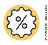 discount sticker colored vector ... | Shutterstock .eps vector #389111209