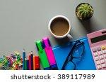 office supplies   business... | Shutterstock . vector #389117989