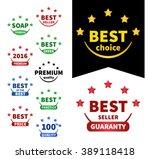 collection vector badges. ...   Shutterstock .eps vector #389118418