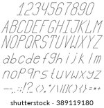 a complete set of letters ... | Shutterstock .eps vector #389119180