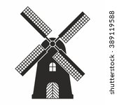 windmill icon | Shutterstock .eps vector #389119588