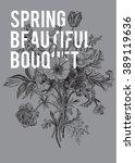 victorian bouquet. spring...   Shutterstock .eps vector #389119636
