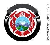 Fireman Emblem. Fire Department ...