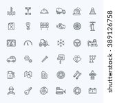 outline icons. car parts and... | Shutterstock .eps vector #389126758