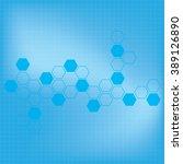 abstract molecules medical... | Shutterstock .eps vector #389126890