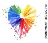 Watercolor Multicolored Heart ...