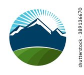 mount and field logo vector.