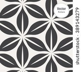 vector pattern. monochrome... | Shutterstock .eps vector #389143279