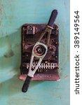 rusty grunge metal rotating... | Shutterstock . vector #389149564