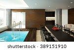 3d rendering of a modern spa... | Shutterstock . vector #389151910