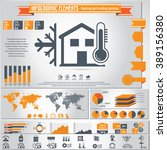 heating and cooling systems  ... | Shutterstock .eps vector #389156380