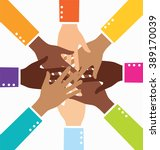 creative colorful diversity... | Shutterstock .eps vector #389170039