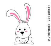 easter bunny vector illustration | Shutterstock .eps vector #389185654
