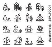 tree icon | Shutterstock .eps vector #389190004