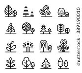 tree icon | Shutterstock .eps vector #389190010