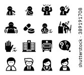 office syndrome icon   Shutterstock .eps vector #389191708