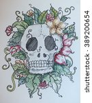 skull | Shutterstock . vector #389200654