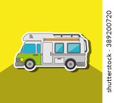 camping vehicle design  | Shutterstock .eps vector #389200720