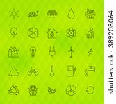 ecology environment line icons...   Shutterstock .eps vector #389208064