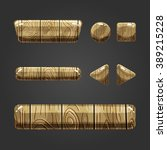 set of wooden button  with...