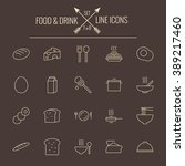 food and drink icon set. | Shutterstock .eps vector #389217460