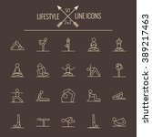 lifestyle icon set. | Shutterstock .eps vector #389217463