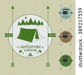 camping vintage emblem.logotype ...   Shutterstock .eps vector #389217559