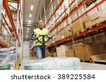 wholesale  logistic  loading ... | Shutterstock . vector #389225584