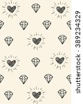 simple pattern with diamonds... | Shutterstock .eps vector #389234329