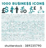 1000 business vector icons.... | Shutterstock .eps vector #389235790