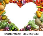 heart shaped food. food... | Shutterstock . vector #389251933