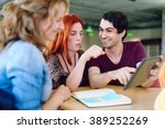 unposed group of creative... | Shutterstock . vector #389252269