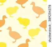 Seamless Pattern With Chick An...
