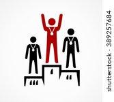 sportsmen rewarding | Shutterstock .eps vector #389257684