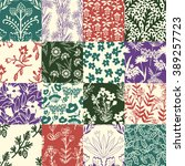 seamless patterns with... | Shutterstock .eps vector #389257723