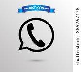 call app  icon vector eps 10... | Shutterstock .eps vector #389267128