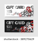 set of gift  discount  voucher... | Shutterstock .eps vector #389270629