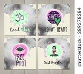 set of four hand made cards....